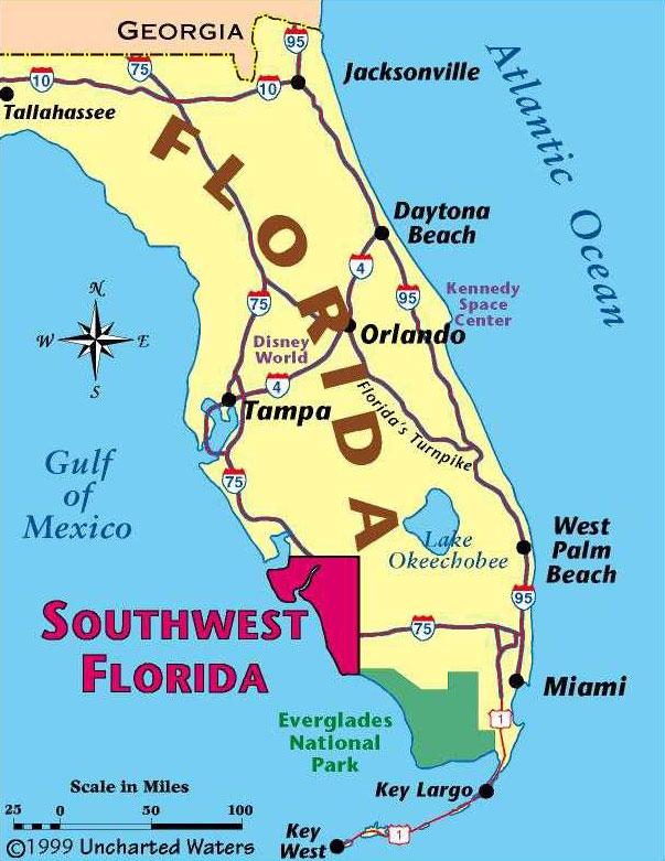 Florida FLOREMA Florida Real Estates - Mapa florida
